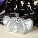 White Jadeite Butterfly & Money Coin Adjustable Necklace  ~ REBIRTH ~ PROSPERITY