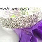 Czech Crystal 5 ROW Adjustable Stretch Ankle Bracelet Anklet
