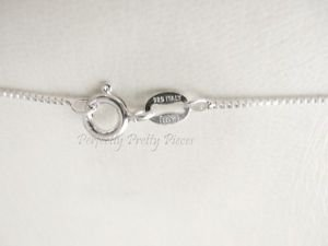 """Italian 925 Sterling Silver Box Chain  1mm x 18"""" 46.7cm  Rhodium Plate Protected"""