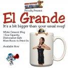 'El Grande' Personalised Jumbo Size Mug