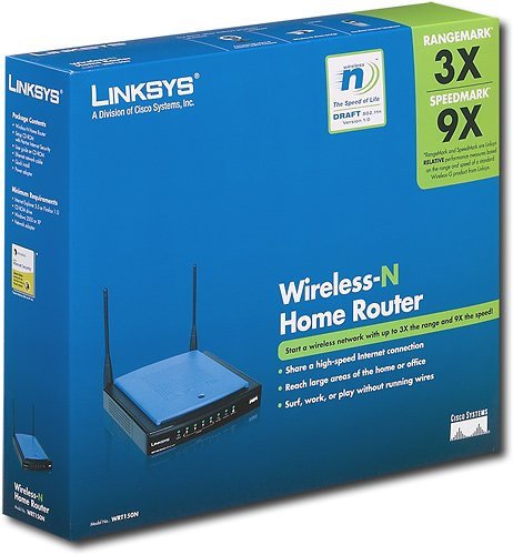 Linksys - Wireless-N Wireless Router with 4-Port Switch