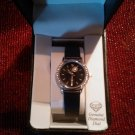 Sold! Beverly Hills Polo Club Diamond and Chrystal Wristwatch Black