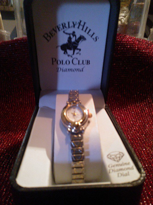 Sold! Beverly Hills Polo Club Diamond Wristwatch with Hearts