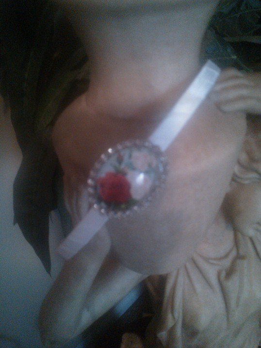 Romantic and Sassy Rose and Rhinestone Headband