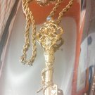kirks folly key brooch pendant on chain
