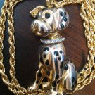 kirk's folly dog dalmation pendant brooch necklace