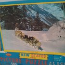 Vintage Alaska Puzzle 1950's? New State Series warren paper products co USA