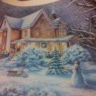 d. bovy winter snow snowman art print