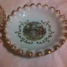 Vintage Antique Lefton China Dish Plates SL5418 Hand Painted Gold Trim Ruffled
