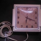 vintage telechron wall mount electric square clock