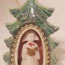 vintage 60s Genuine Bone China Christmas Diorama Ornament Japan Choir Girl