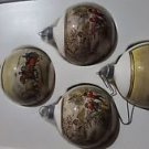 vintage christmas Pyramid 1980s glass ball ornaments for tree