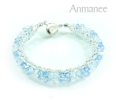 Handcrafted Swarovski Crystal Bracelet - Pikul-Single-High 010258