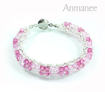 Handcrafted Swarovski Crystal Bracelet - Pikul-Single-High 010259