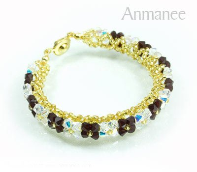 Handcrafted Swarovski Crystal Bracelet - Pikul-Single-High 010260