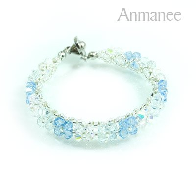 Handcrafted Swarovski Crystal Bracelet - Pikul-Single-Low 010263