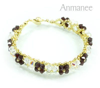 Handcrafted Swarovski Crystal Bracelet - Pikul-Single-Low 010264