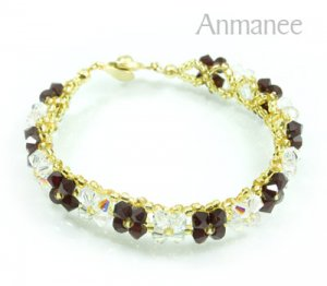 Handcrafted Swarovski Crystal Bracelet - Pikul-Single-Low 010264