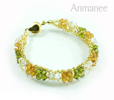 Handcrafted Swarovski Crystal Bracelet - Pikul-Single-Low 010265