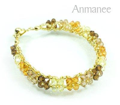 Handcrafted Swarovski Crystal Bracelet - Pikul-Single-Low 010268