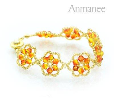 Handcrafted Swarovski Crystal Bracelet - Pellet Queen 010243