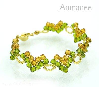 Handcrafted Swarovski Crystal Bracelet - Classic V 01027
