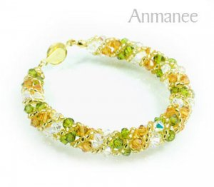Handcrafted Swarovski Crystal Bracelet - Twist-S 0102107