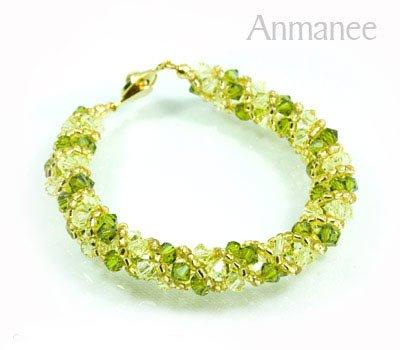 Handcrafted Swarovski Crystal Bracelet - Twist-S 0102108