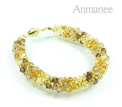 Handcrafted Swarovski Crystal Bracelet - Twist-S 0102110