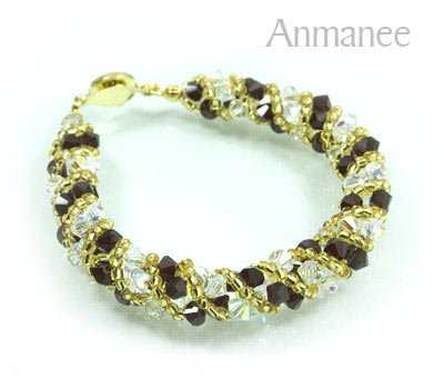 Handcrafted Swarovski Crystal Bracelet - Twist-S 0102111