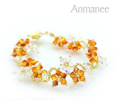 Handcrafted Swarovski Crystal Bracelet - Crawling Star 010212