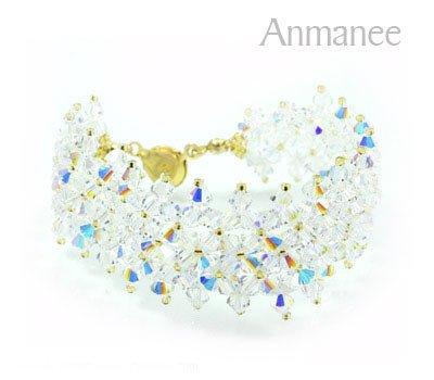 Handcrafted Swarovski Crystal Bracelet - JDee 010217