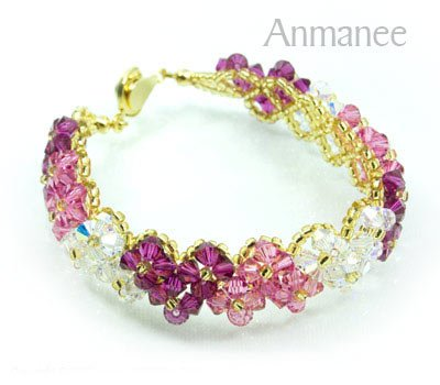 Handcrafted Swarovski Crystal Bracelet - Pikul V 010274