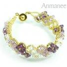 Handcrafted Swarovski Crystal Bracelet - Pikul V 010276