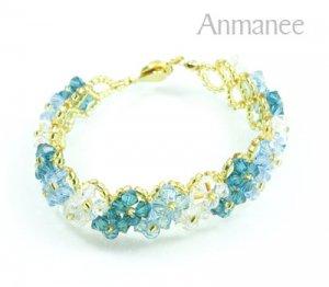 Handcrafted Swarovski Crystal Bracelet - Pikul V 010277