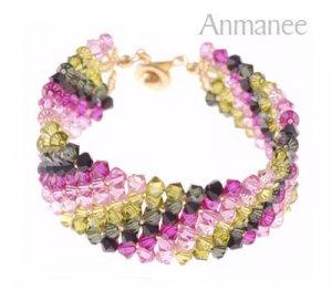 Handcrafted Swarovski Crystal Bracelet - Lace 010223