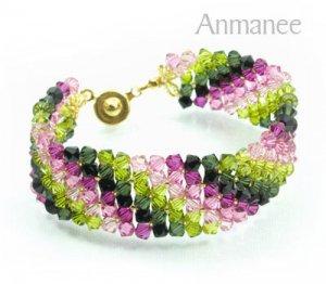 Handcrafted Swarovski Crystal Bracelet - Lace 010227