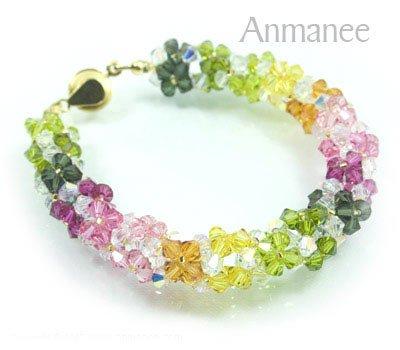 Handcrafted Swarovski Crystal Bracelet  - Twist-L 010295