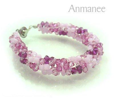 Handcrafted Swarovski Crystal Bracelet - Twist-L 010294