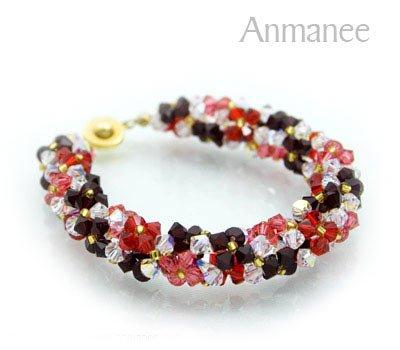 Handcrafted Swarovski Crystal Bracelet - Twist-L 010291