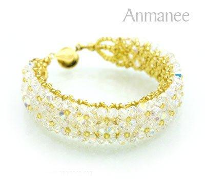 Handcrafted Swarovski Crystal Bracelet - Pikul-Double 010257