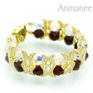 Handcrafted Swarovski Crystal Bracelet - Shying Moon 010278