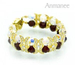 Handcrafted Swarovski Crystal Bracelet - Shying Moon 010278