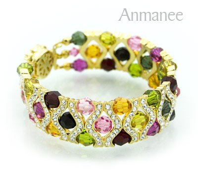 Handcrafted Swarovski Crystal Bracelet - The Queen 010290