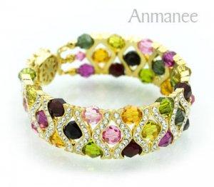 Handcrafted Swarovski Crystal Bracelet - The Queen 010290