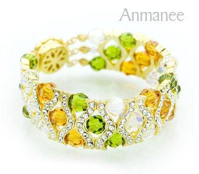 Handcrafted Swarovski Crystal Bracelet - The Queen 010289