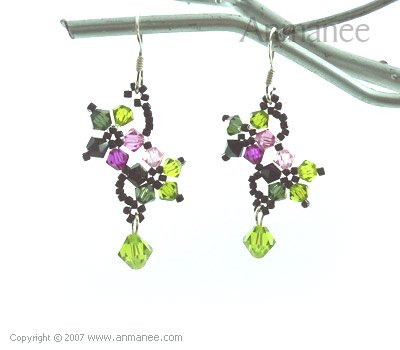 Handcrafted Swarovski Crystal Earrings 010333
