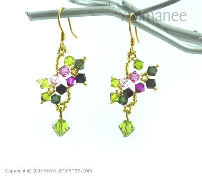 Handcrafted Swarovski Crystal Earrings 010332