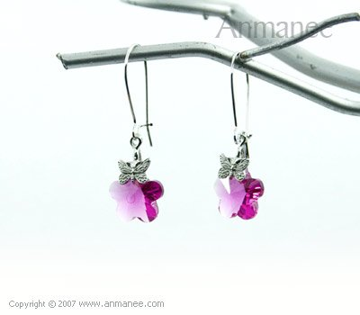 Handcrafted Swarovski Crystal Earrings 01031