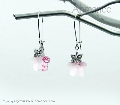 Handcrafted Swarovski Crystal Earrings 01035